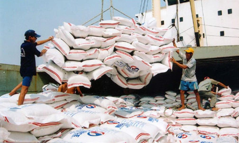 bagged rice